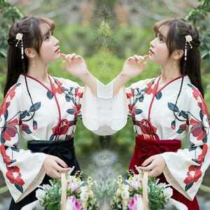 和服風 花柄 ロリータ ロリィタ服 ゆったり 大きめ かわいい コスプレ 衣装 ハロウィン 仮装 チャイナ服 華ロリ 中華