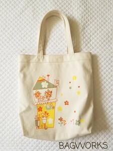 未使用 BAGWORKS バッグワークス 豊岡かばん 豊岡鞄 トートバック キャンバス地 日本製