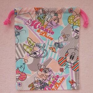 巾着 給食袋 給食入れ コップ袋 コップ入れ 給食セット入 給食袋 ディズニー ミニー ミッキー デイジー ドナルド ハンドメイド