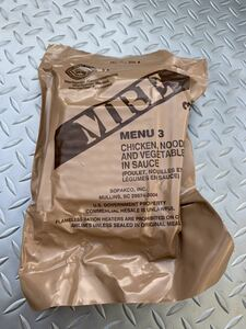 the US armed forces the truth thing [SOPAKCO]MRE ration / war . meal MENU-3 A 2020 year inspection goods camp outdoor mountain climbing emergency rations Okinawa the US armed forces retort pauchi millimeter .