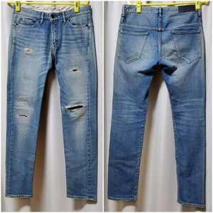 ジーンズファクトリー ダメージデニム 30inchJeans Factory Clothes インディゴ(ライトブルー)スタイル:スリム-スキニー サイズ30