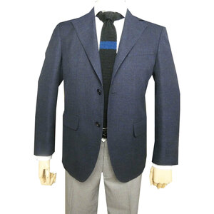 新品!J.PRESS(ジェイプレス) 春夏 メンズ 麻混 メッシュジャケット 二つボタン ネイビー 0075 M