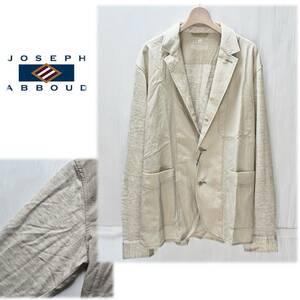 《JOSEPH ABBOUD ジョセフ アブード》新品 定価30,800円 袖切替デザイン 薄手 ストレッチサマージャケット 吸湿性/速乾性 L A3703