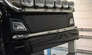 bragan 2017~ ska niaR visor bar LED 5 piece attaching plating trailer stainless steel deco truck Hino front grille visor Volvo