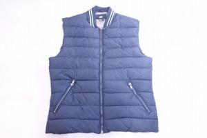 ■【H&M】エイチアンドエム/中綿ジップベスト レディース[XL]黒×白《美品》ジップアップ ベスト