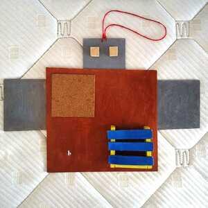ハンドメイド/工作/ロボット形お片付けボード/小物収納