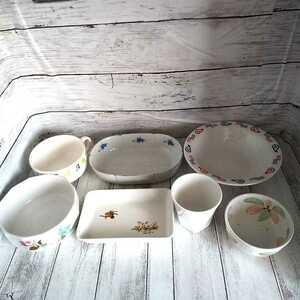 食器まとめて7点セット/スープカップ/どんぶり/中皿/メラミンカップ/小皿/プレート