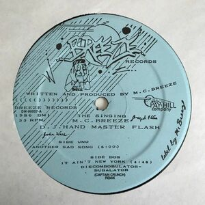 The Singing MC Breeze & Hand Master Flash - Another Sad Song【USオリジナル】【Wellingtons/Funkadelicネタ】