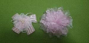 コサージュ 美品 2点セット 薔薇 ピンク ■ 送料無料 ■ お洒落 卒業式 入学式 フォーマル 結婚式 イベント リボン 可愛いです
