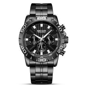 新品 新作 腕時計 メンズ腕時計 アナログ クォーツ式 クロノグラフ ビジネスウォッチ 豪華 高級 人気 ルミナス 防水★UTM23★ブラック