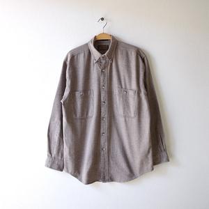 【送料無料】エディーバウアー アウトドア 長袖シャツ BDシャツ ボタンダウン ヘリンボーン コットン Eddie Bauer メンズS CA0164