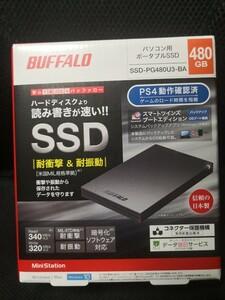 新品・未開封 BUFFALO SSD 480GB ブラック PC PS4にも♪