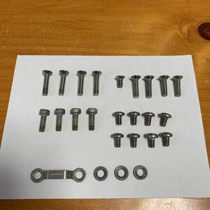 スノーボード バインディング 用 ネジセット ▽2.7cm4本 2.4cm2本 2.2cm2本 1.2cm1本 六角2.3cm4本 丸1.4cm8本 ワッシャ3 他 中古 送料無料
