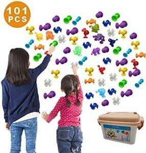 新感覚知育ブロック 101個セット 吸盤 おもちゃ 積み木 組み立て お風呂のおもちゃ 男の子 女の子 子供の誕生日 プレゼント