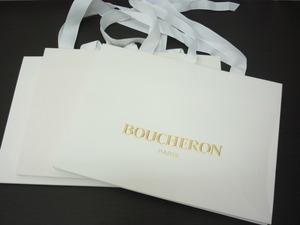 ☆BOUCHERON ブシュロン 紙袋 白 同サイズ 3枚セットで ショッパー / 23 ※定形外510円発送可
