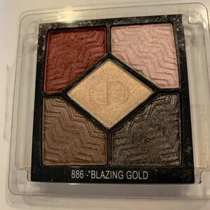 DIOR ディオール  アイシャドウ サンククルール 886 限定品 BLAZING GOLD ピンク レッド ブラウン グレー系