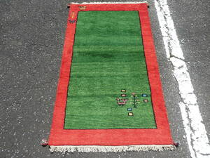 ギャッベ◆ペルシャ絨毯◆アンティーク 家具◆北欧◆骨董◆茶道 華道◆150×88cm