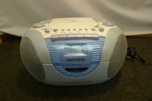 DD020 WINTECH CDラジカセ CDR-A5 CD,ラジオ,カセット再生可能 簡単操作 高音質な8cmフルレンジスピーカーを採用/100