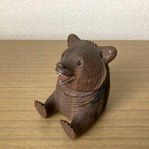 珍品 木彫り 熊 インクケース? 木彫りの熊 くま クマ 彫刻 レトロ アンティーク 海外製? 置物 古民家 北海道 アイヌ 八雲 白老 スイス