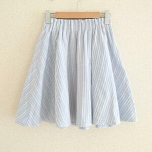BE RADIANCE FREE ビーラディエンス スカート ひざ丈スカート Skirt Medium Skirt 青 / ブルー / X 白 / ホワイト / 10011685