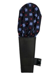 日本製 形態安定ポケットチーフ シルク100% 小紋&ネイビー Z2
