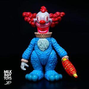 新品 JPX MILKBOYTOYS IT BEAR the animated BLUE Mr WISE with HOTDOG GUN ソフビ フィギュア イットベアー THE IT BEAR
