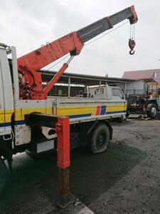 210636 front rice field crane MAEDA MC-203 3 step crane