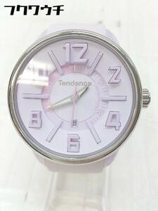 ◇ Tendence テンデンス 動作未確認 クォーツ 3針 カレンダー アナログ 腕時計 ウォッチ ピンク レディース 1103300006839