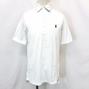 Polo by Ralph Lauren ポロバイラルフローレン S メンズ 男性 ポロシャツ Tシャツ生地 ロゴ刺繍 半袖 ロングテール 服 綿100% ホワイト 白