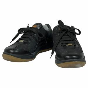 LOUIS VUITTON ルイ ヴィトン MA0045 靴 シューズ スニーカー レザー キャンバス モノグラム キャンバス ブラック [サイズ 35 (約22cm)]