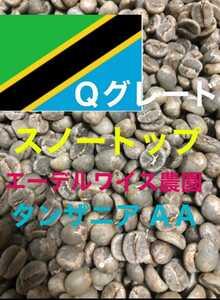 スノートップ(タンザニア キリマンジャロ)200gコーヒー生豆!焙煎しておりません!エーデルワイス農園!Qグレード!