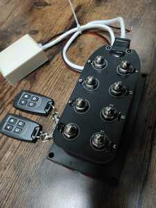 【類似品に注意】エアサス ソレノイド 4独 リモコン付 電磁弁 ACC繋ぐだけ 新品 未使用 高性能 高耐久
