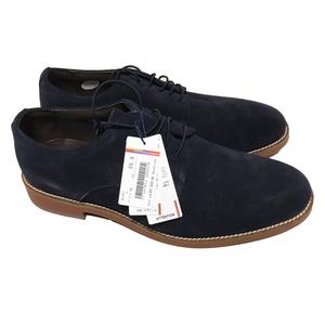 未使用 ORIHICA オリヒカ 本革スエードシューズ ブルー26.0 革靴 EEE程度 ビジネスカジュアルスーツジャケットに