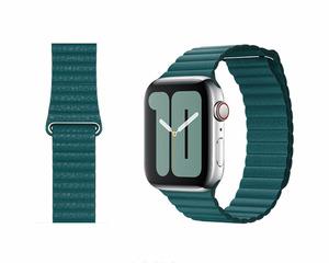 送料無料 新品未開封品 apple watch 純正品バンド 42mm/44mmケース用 ピーコックレザーループ Mサイズ MXPM2FE/A アップル正規品