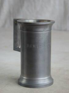 フランスアンティーク ポット メジャーカップ 花器 花瓶 ピューター ETAIN 刻印 フラワーベース ブロカント シャビーシック 蚤の市