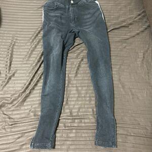 ジョガーパンツ スウェットパンツ メンズ ボトムス スウェットデニム ジーンズ ジーパン 裾ZIP サイドライン