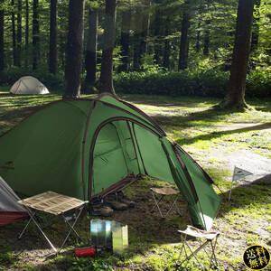 【幅広い用途に使える前室】 グランドシート付き 2人用 3人用 ランタン吊り下げ可能 キャンプ ツーリング 旅行 簡単設営 軽量 グリーン