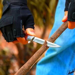 【フォールディングナイフ】 折りたたみ式 ステンレススチール 収納ケースあり 携帯性 キャンプ アウトドア 釣り フィッシング DIY