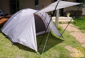 【ランタン吊り下げ可】 アッシュカラー ドームテント ツーリング キャンプ 旅行 コンパクト 前室あり 簡単設営 2~3人用 コールマン