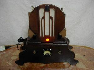 アンティーク & アート !! 外装自作 整備済み 完動品 ナショナル ( National Model R-10 ) 製 ビンテージ 真空管 ラジオ