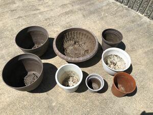 家庭菜園 観葉植物 プランター 鉢 8個セット
