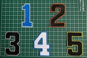 アイロンワッペン 背番号 刺繍