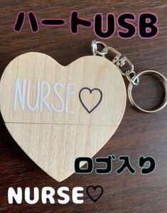 看護 実習 資料 ハート USB  ロゴ入り