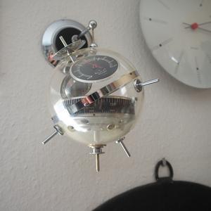 ドイツ ヴィンテージ sputnik スプートニク ウェザーステーション シルバー シャビー 工業系バウハウス小物 古道具スペースエイジ店舗什器