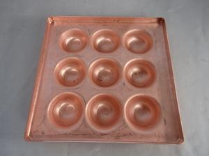 即落札 新品未使用 銅 たこ焼き 9穴 手作り 日本製 銅製 タコヤキ器 たこ焼き器 たこ焼き板 ガス用 たこ焼き板 家庭用 たこ焼き 銅i板