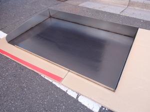 即落札 新品未使用 鉄板 のみ 業務用 鉄板焼 900×550 グリラー グリドル 鉄板厚み9mm お好み焼き 焼きそば ステーキ等 鉄板焼き 鉄板のみ