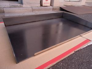 即落札 新品未使用 鉄板 のみ 業務用 鉄板焼 900×550 グリラー グリドル 鉄板厚み6mm お好み焼き 焼きそば ステーキ等 鉄板焼き 鉄板のみ
