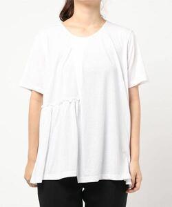 AMERICAN HOLIC アメリカンホリック 切り替えギャザー半袖カットプルオーバー Tシャツ 半袖カットソー ホワイト M