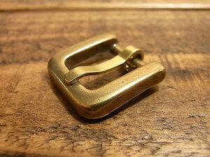 バックル 真鍮 無垢 ブラス 12mm レザー ベルト 革 1.2cm 美錠 尾錠 ロ型 カスタム レザークラフトに 101
