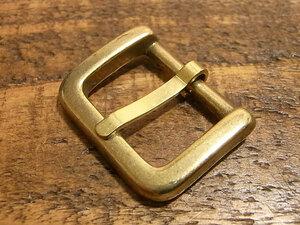 バックル 真鍮 無垢 ブラス 21mm レザー ベルト 革 2.1cm 美錠 尾錠 ロ型 カスタム レザークラフトに 101